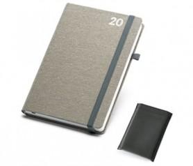 Agenda 2020 de lona en poliéster tamaño B5 para plasmar el logo de tu empresa