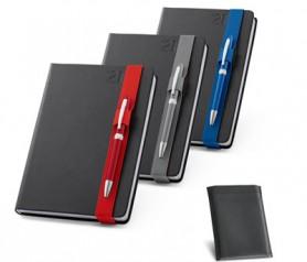 Agenda de bolsillo 2021 en polipiel con funda y bolígrafo incluido con posibilidad de personalizarla para tu empresa