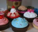 Brillos de labios en forma de cupcake ideal para las mujeres o niñas invitadas