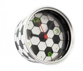 Reloj de aluminio en forma de pelota de fútbol como detalle para los hombres invitados