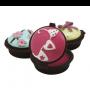 Bálsamo de labios-muffins para detalles de boda