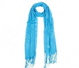Pañuelo pashmina en color azul ideal como detalle de boda para las mujeres