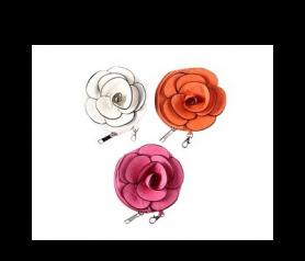 Carteras monederos con forma de flor para detalles de boda