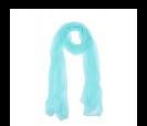 pañuelo azul presentado en baul colorido de regalo