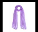pañuelo lila presentado en baul colorido de regalo