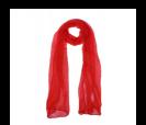 pañuelo rojo presentado en baul colorido de regalo