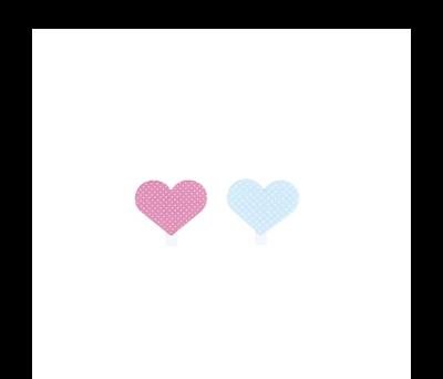 Pinzas madera en forma de corazones