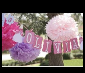 pompones de papel de seda para decorar tus fiestas y eventos