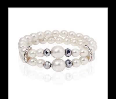 Pulsera de perlas white para detalles de bodas
