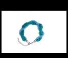 pulsera enrollada color azul en caja de regalo