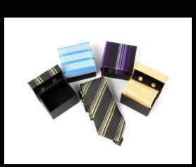 Set Corbata + Gemelos en estuche regalo a conjunto