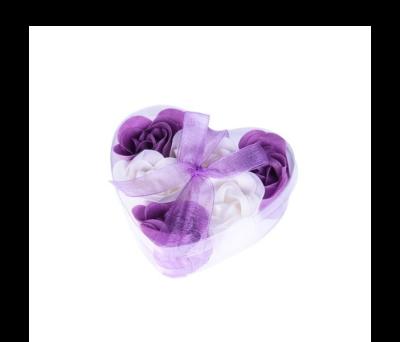 6 Flores de jabón presentadas en estuche corazón