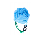 Bolsa plegable en forma de rosa azul