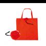 Bolsa plegable en forma de rosa roja