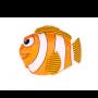 Bolsa plegable en forma pez en color amarillo