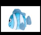 Bolsa plegable en forma pez en color azul