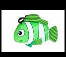 Bolsa plegable en forma pez en color verde