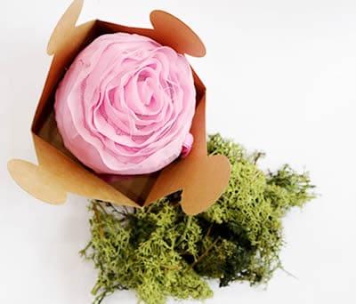 Bolsa plegable para la compra en forma de rosa ideal regalo original para las invitadas de tu boda