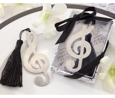 PUNTO DE LIBRO NOTA MUSICAL como detalle de boda para los invitados