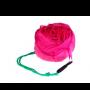 bolsa plegable forma rosa en color fucsia