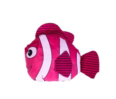 Bolsa plegable pez con cajita y lazo