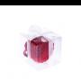 bolsa plegable rosa en caja de regalo