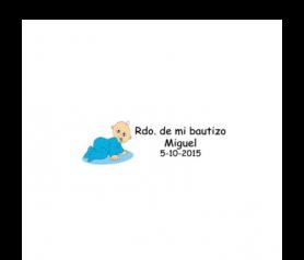 Lote de 68 Etiquetas adhesivas de Bautizo Niño