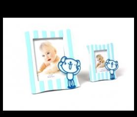 portafotos jugueton azul