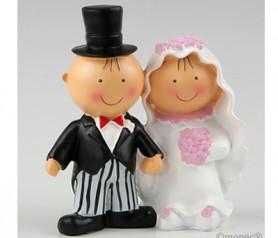 FIGURA NOVIOS PASTEL DE LA MANO para la tarta o como regalo para los siguientes en casarse