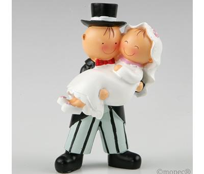 Figura pastel novia en brazos para la tarta nupcial o como regalo para los siguiente en casarse