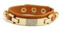 pulsera de cuero con brillantes marrón
