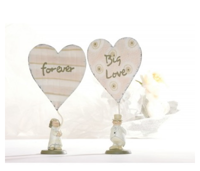 Figura novio o novia con corazón
