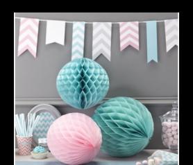 pompones nido en diferentes colores para decorar tus fiestas y celebraciones