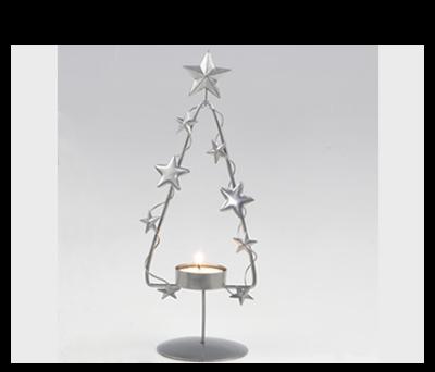 Candelabro metálico árbol con vela para detalles de invitados