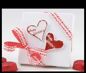Corazones Happy Valentine's con bombones para detalles de invitados