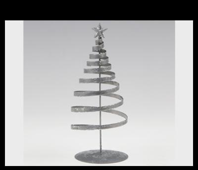 Figura árbol plateado para detalles de invitados