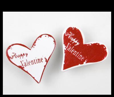 Pegatina madera corazón para detalles de invitados
