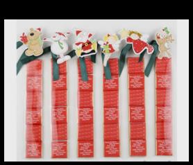 Pinza Personajes de Navidad con napolitanas para detalles de invitados
