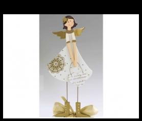 Angelita de madera para detalles de navidad