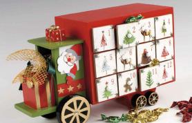 Calendario Adviento madera camión para regalar estas navidades
