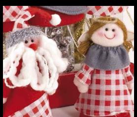 Cono navideño angelita-papá noel. Para regalar en Navidad