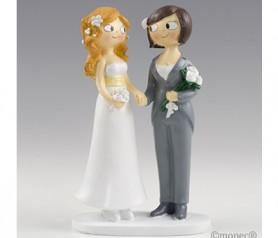 FIGURA DE NOVIAS PARA TARTAS o como regalo para los siguientes en casarse