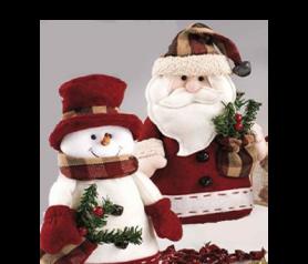Muñecos Papá Noel y Nieve. Para decorar tu casa esta Navidad