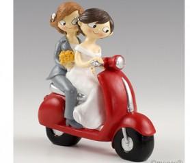 Novias en moto para la tarta de boda o como regalo