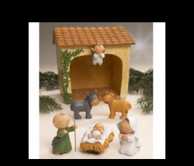 Pesebre Pit&Pita con 5 figuras para decorar tu hogar estas navidades