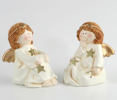 Portavelas ángel para decorar tu casa estas navidades