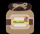 Block de notas tarro de mermelada de chocolate como detalle de boda, comunión o eventos para tus invitados