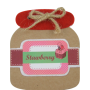 Block de notas tarro de mermelada de fresa como detalle de boda, comunión o eventos para tus invitados