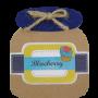Block de notas tarro de mermelada de moras como detalle de boda, comunión o eventos para tus invitados