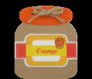 Block de notas tarro de naranja de fresa como detalle de boda, comunión o eventos para tus invitados